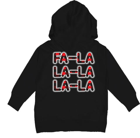 GRG-Fa La La La Hoodie, Black (Toddler, Youth)