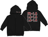 GRG-Fa La La La ZIP Hoodie, Black (Infant/Toddler)