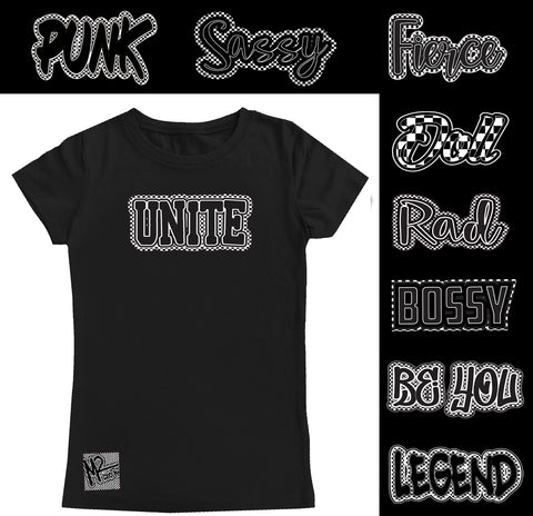 *Check Yourself Fitted Tee, Black (Infant, Toddler, Youth)