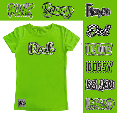 *Check Yourself Fitted Tee, Lime Green (Infant, Toddler, Youth)