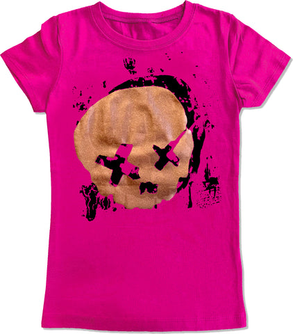 Cobain Skull Fitted Tee, Hot PInk (Infant, Toddler, Youth)