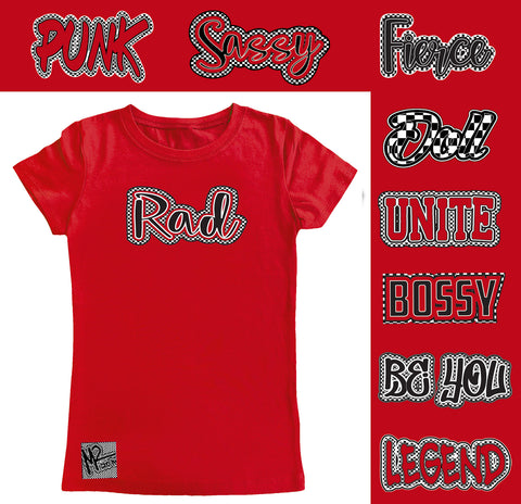 *Check Yourself Fitted Tee, Red (Infant, Toddler, Youth)
