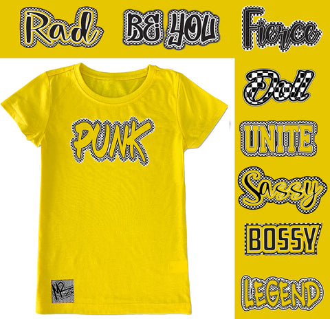 *Check Yourself Fitted Tee, Yellow (Infant, Toddler, Youth)