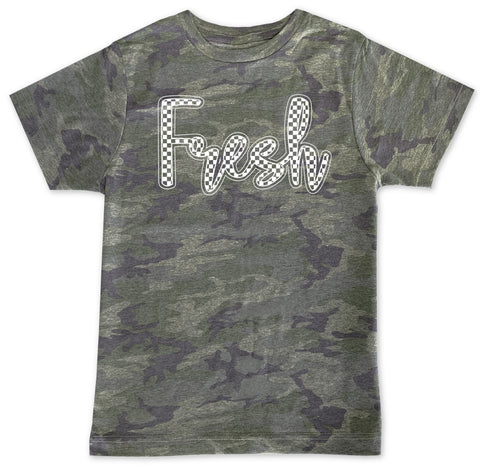 Fresh Check Camo Tee **CUSTOM NAME***