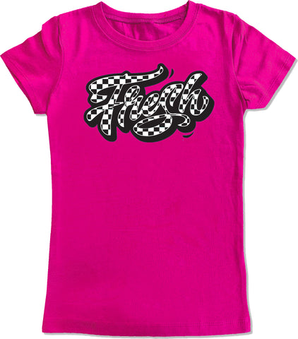Fresh Checks Hot Pink, Fitted Tee, (infant, toddler, youth, adult)