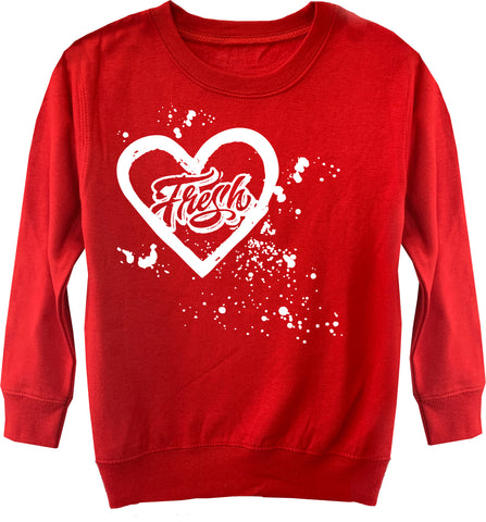 Fresh Splatter Sweater, Red (Toddler, Youth)