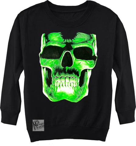 Glow Skull Sweater, Black- (Toddler, Youth,Adult)