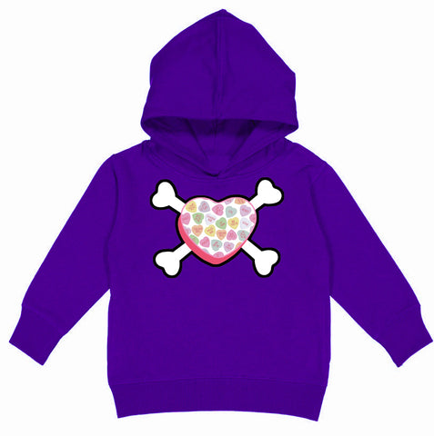 Convo Hearts COLLAB- Heart Bones Hoodie, Purple(Toddler, Youth)