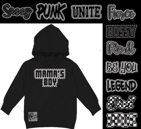 *Check Yourself Hoodie, Black (Toddler, Youth)