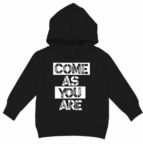 Come As You Are Hoodie, Black (Toddler, Youth)