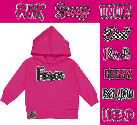 *Check Yourself Hoodie, Hot Pink (Toddler, Youth)