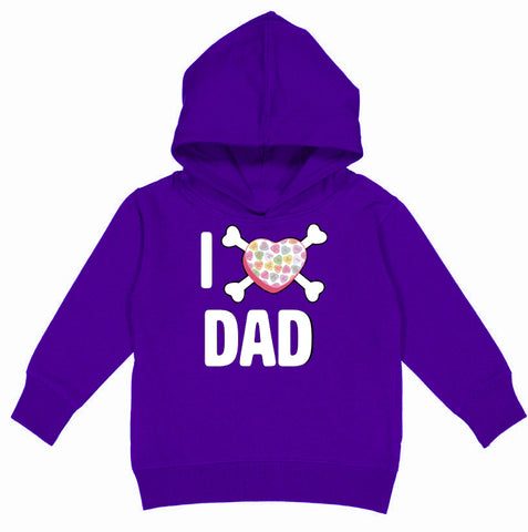 Convo Hearts COLLAB-Love Dad Hoodie, Purple(Toddler, Youth)