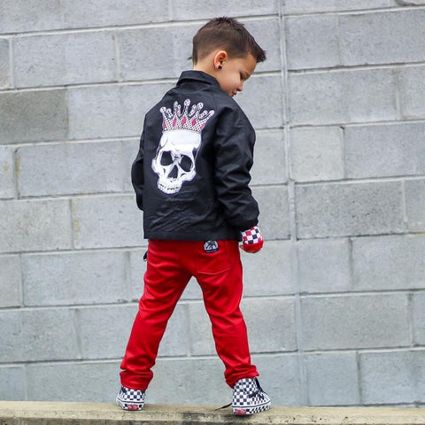 Skull Jacket, Black (Toddler, Youth, Adult)