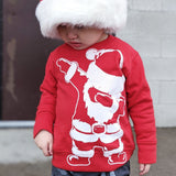 Day 1- Santa Dab Sweater, Red (Toddler, Youth)