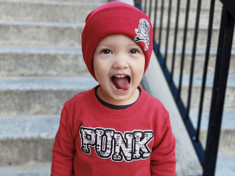 URB-PUNK Fleece Sweater, Red-(Toddler & Youth)