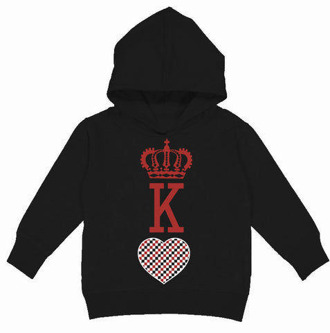 A-Valentine COLLAB-King Of Hearts Hoodie, Black(Toddler, Youth)