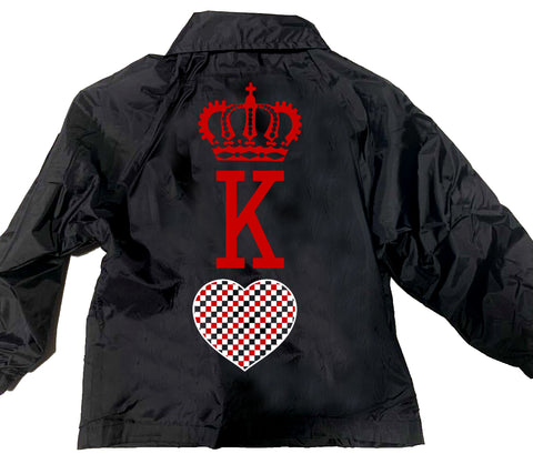 King Of Hearts Jacket, Black (Toddler, Youth, Adult)