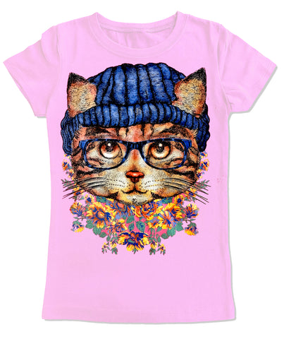 Kitty IN Beanie Fitted Tee, Lt. Pink (Infant, Toddler, Youth, Adult)