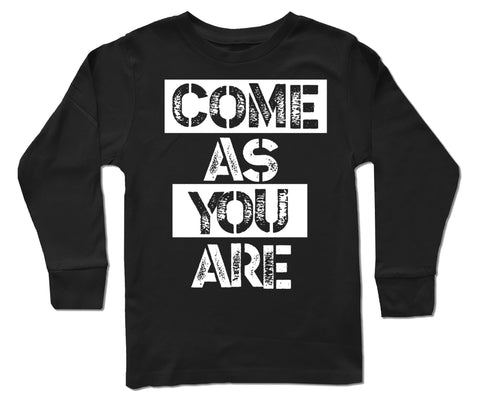 Come As You Are LS, Black (Infant, Toddler, Youth)