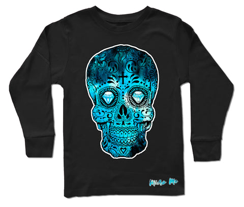 Blue Collab Set- Long Sleeve Shirt, Black (Infant, Toddler, Youth)