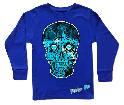 Blue Collab Set- Long Sleeve Shirt, Royal (Infant,Toddler,Youth)