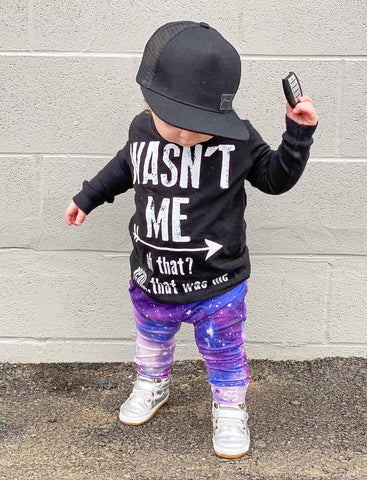 *Wasn't Me Tee, Black (Infant, Toddler, Youth)