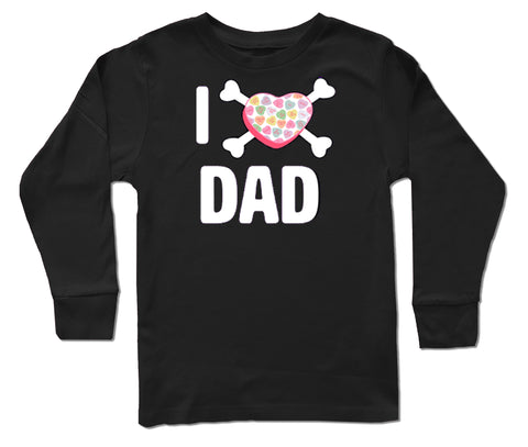 Convo Hearts COLLAB-Love Dad LS Shirt, Black (Infant, Toddler, Youth)