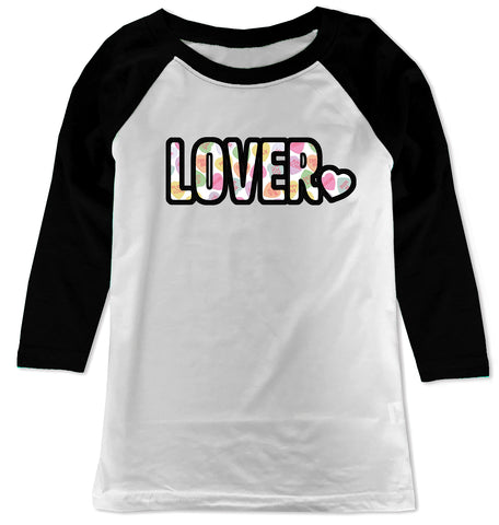 Convo Hearts COLLAB- Lover Raglan, WB (Toddler, Youth)