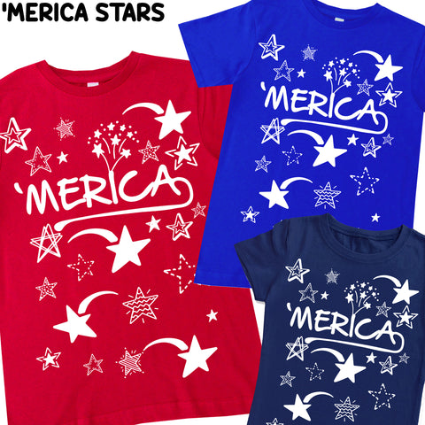 4th-'Merica UNISEX Tee Shirt (infant, toddler, youth)