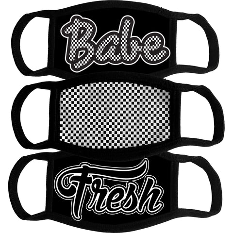 Mask Bundle-Babe, Checker, Fresh