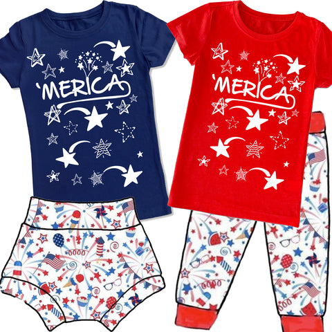 4th-'Merica GIRLS Fitted Tee (Infant, Toddler, Youth)