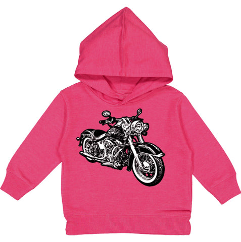 Micro Moto Hoodie, Hot PInk (Toddler, Youth)
