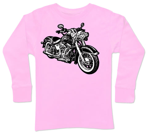 Micro Moto LongSlv, Lt.Pink (Toddler, Youth)