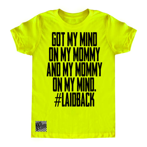 HM-Mind On Mommy Tee, Neon Yellow (Toddler, Youth)