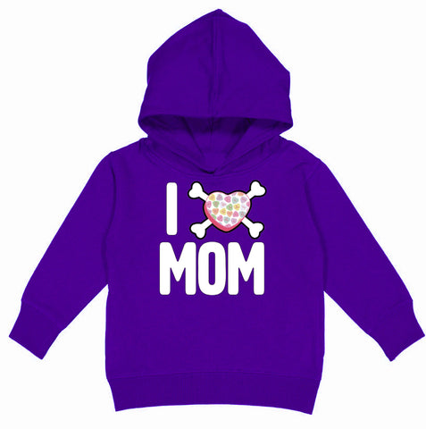 Convo Hearts COLLAB-Love Mom Hoodie, Purple(Toddler, Youth)