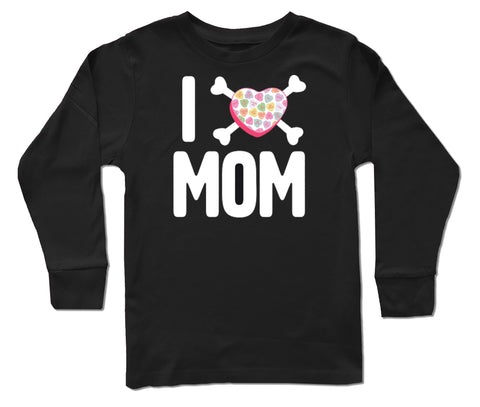 Convo Hearts COLLAB-Love Mom  LS Shirt, Black (Infant, Toddler, Youth)