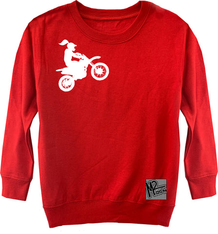 RC-Motogirl Fleece Sweater, Red (Toddler, Youth)