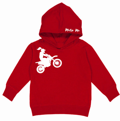 RC-Motogirl Hoodie, Red (Toddler, Youth, Adult)