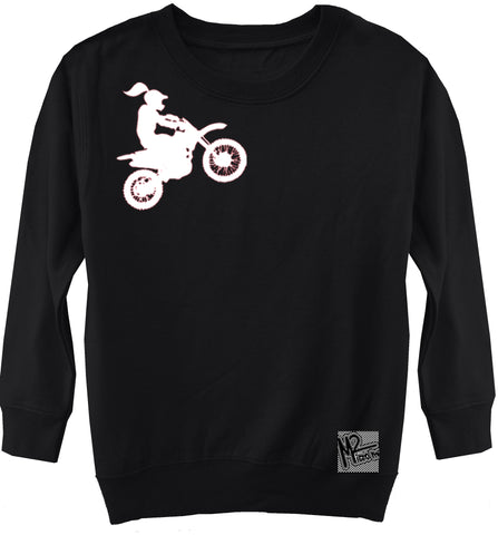 RC-Motogirl Fleece Sweater, Black (Toddler, Youth)