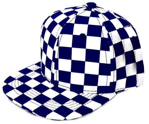 KID/CHILD Snapback Hat-Navy Checkerboard