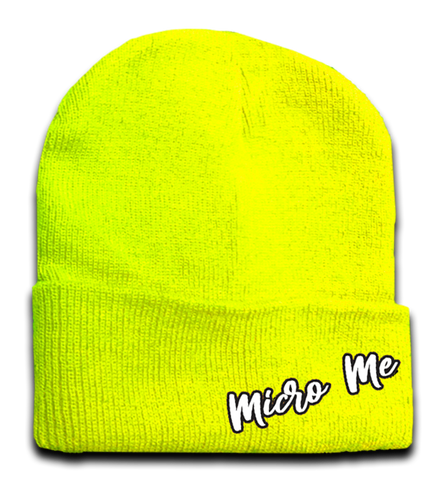 Neon Yellow Beanie, (Medium)