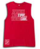 ***Not First Tee OR Muscle Tank, Red- (6M-Adult)