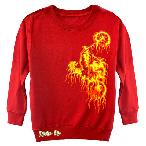 Flame Rider Sweater, Red (Toddler, Youth)