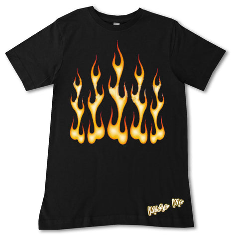 Flames tee, Black (Toddler, Youth)