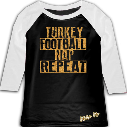 Turkey Football Raglan, B/W (Todder, Youth)