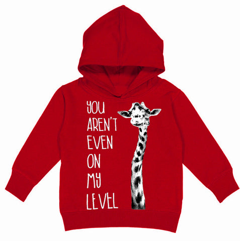 On My Level Hoodie, Red (Toddler, Youth, Adult)
