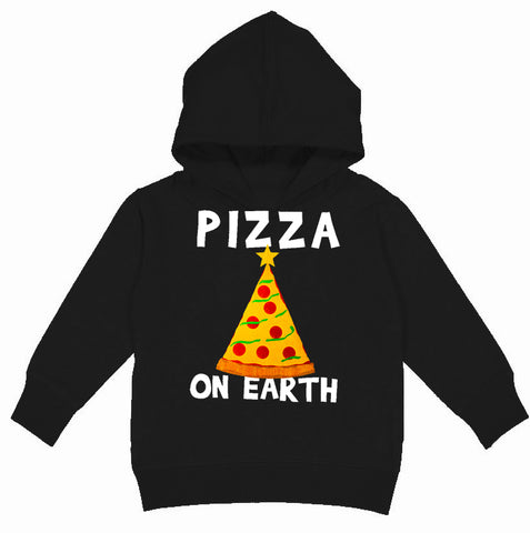 CHR-Pizza On Earth Hoodie, Black (Toddler, Youth)