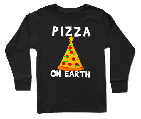 CHR-Pizza Long Sleeve Shirt, Black  (Infant, Toddler, Youth)