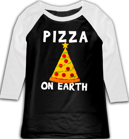 CHR-Pizza  Raglan, B/W (Toddler, Youth)