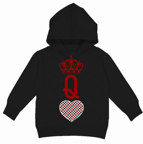 A-Valentine COLLAB-Queen Of Hearts Hoodie, Black(Toddler, Youth)